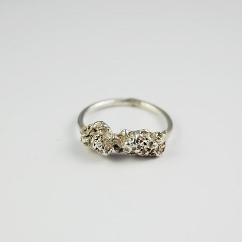 Crawling Beast silver ring